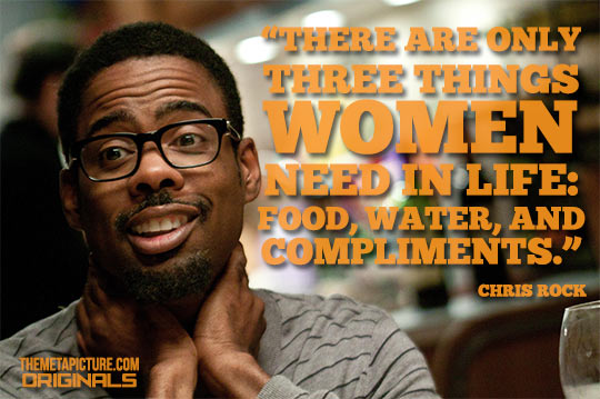 The three things women need in life…