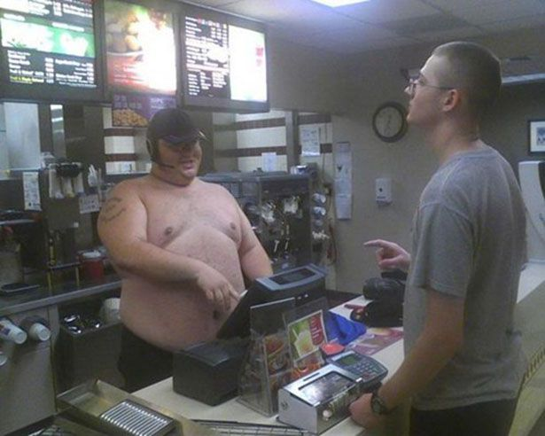 Watch What You Eat! — Shirtless Worker