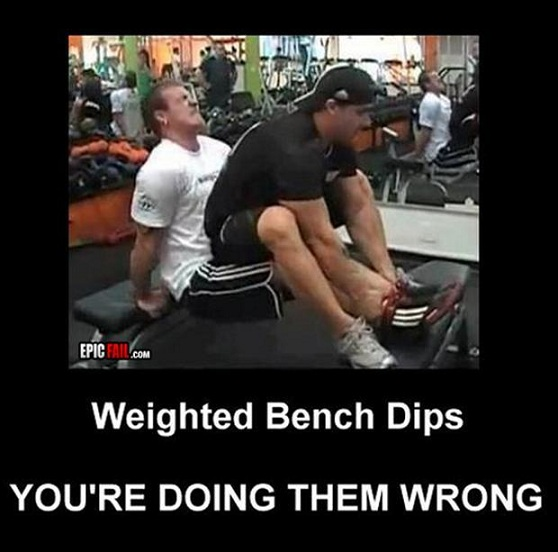 Weighted Bench Dips — You're doing them wrong bro