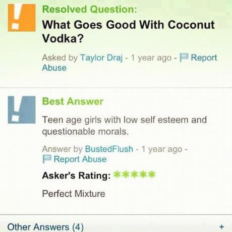Yahoo Answers nails it again