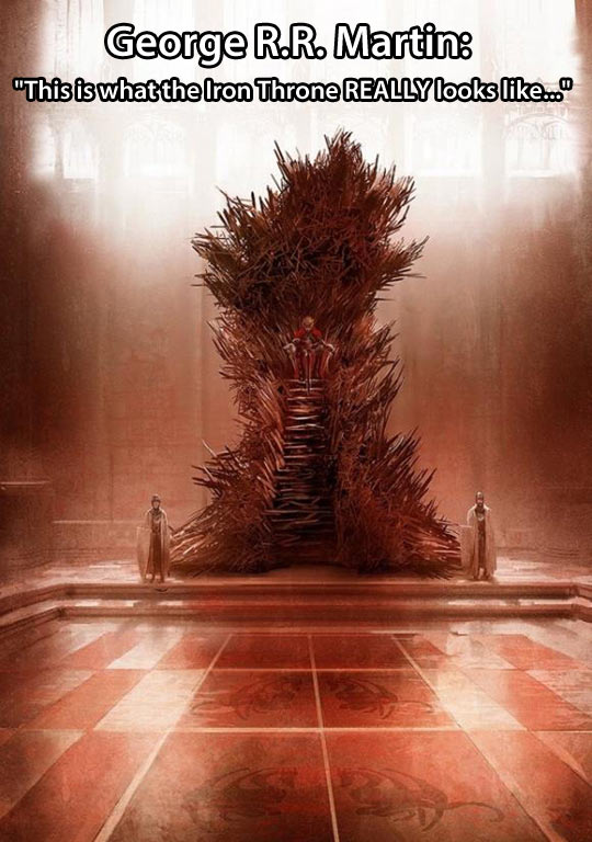 What the Iron Throne really looks like…