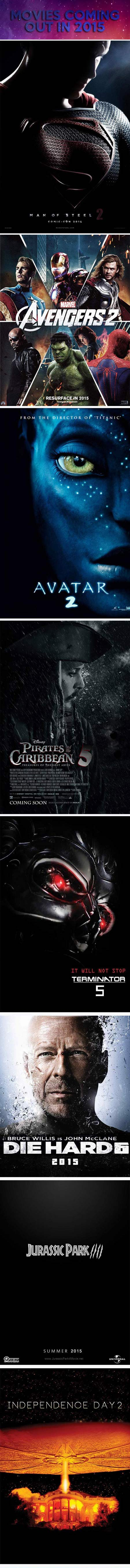 Movies coming out in 2015...