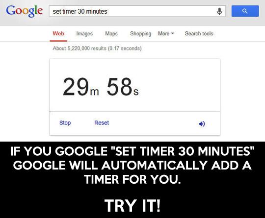 Google's useful timer…