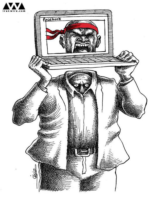 A cartoon by an Iranian political cartoonist…