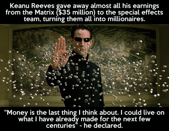 Keanu Reeves has a big heart…