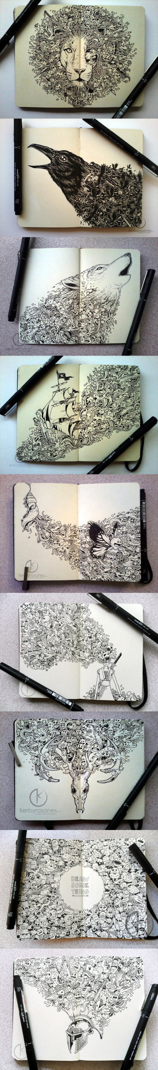 Incredible Moleskine drawings…
