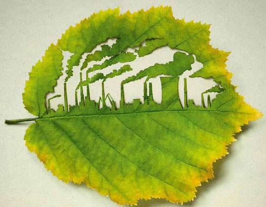 Carved from a leaf…