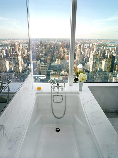 A bath with a view…