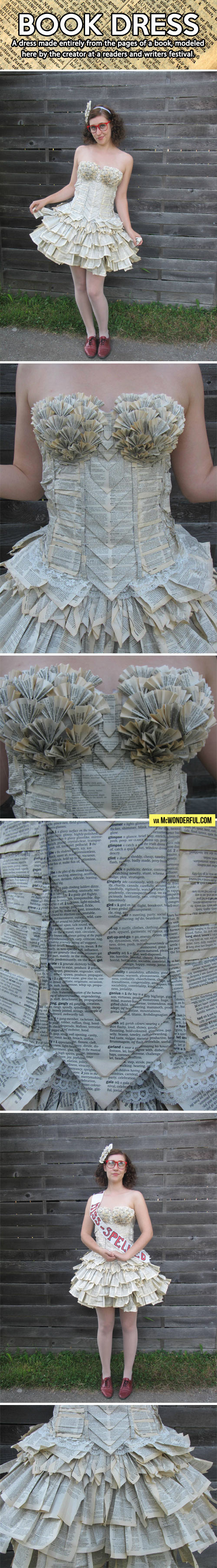 A dress made entirely out of books…