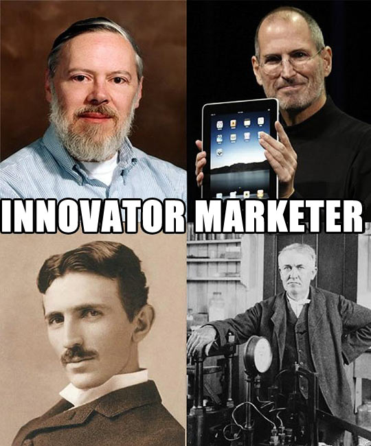 Innovator vs. marketer: always remember the difference…