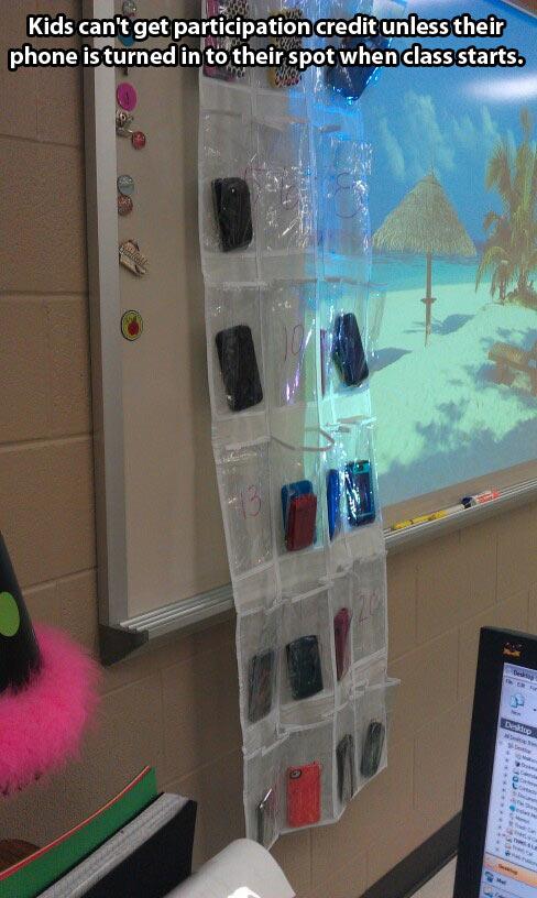 How a teacher deals with cellphones…
