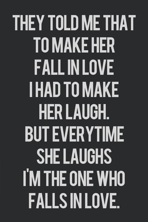 Making her fall in love…