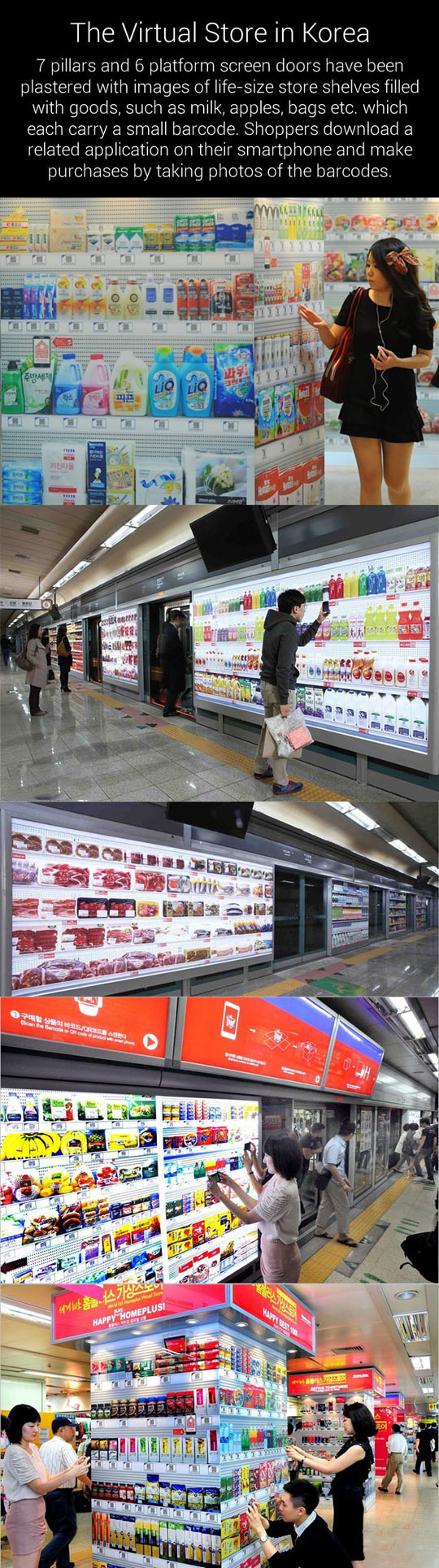 Virtual grocery store in South Korea…