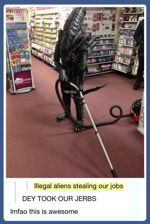 Go home, Alien…