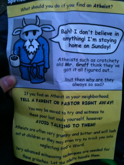 What to do if you find an atheist…