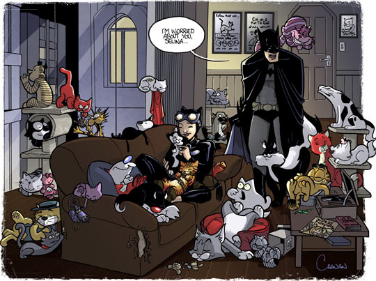 funny-Batman-Catwoman-house-cats