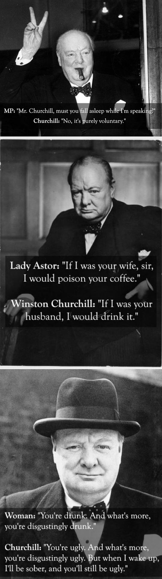 Churchill was a boss…
