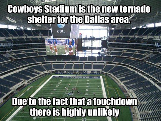funny-Cowboys-Stadium-tornado-shelter-touchdown