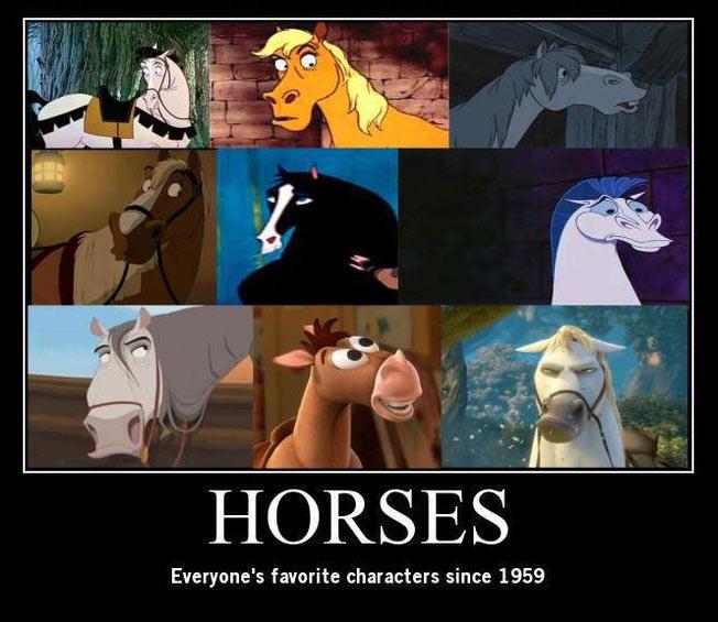 Horses…