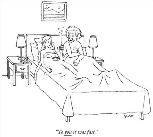 Einstein on bed…