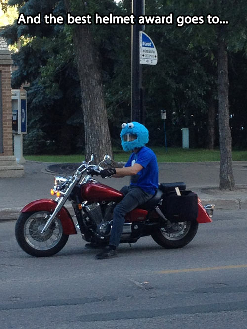 There are normal helmets and then there's this…