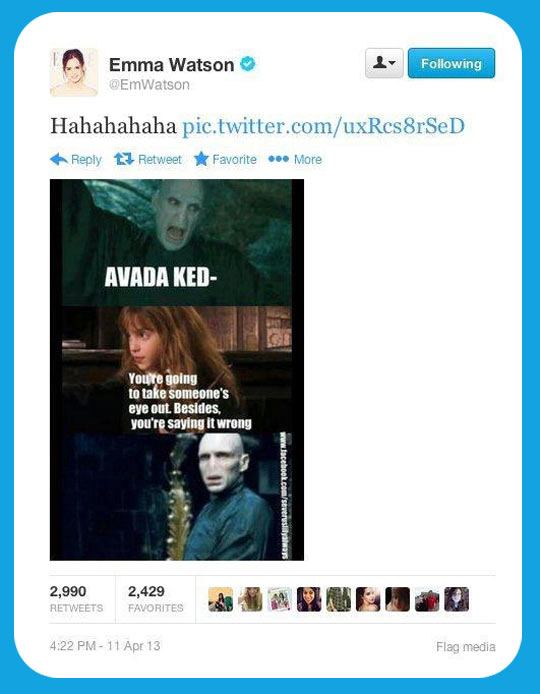 Even better because Emma Watson tweeted it…