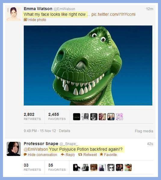 Emma Watson gets an appropriate response…