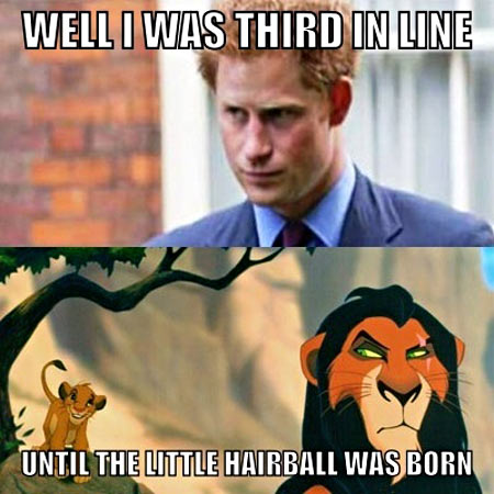 I wonder what Prince Harry really thinks…