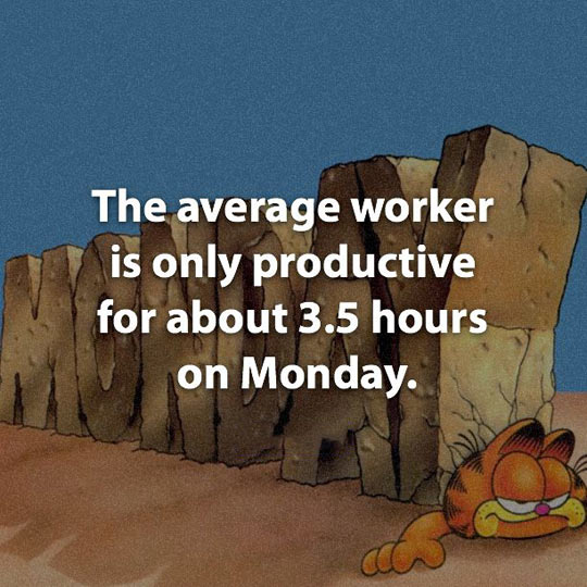funny-Garfield-worker-productive-hours-Monday