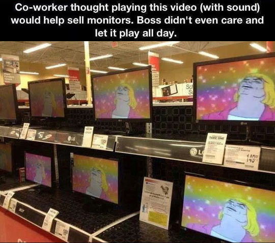 How to properly sell monitors…