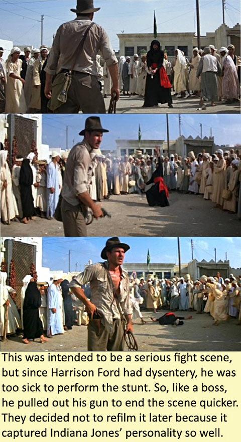 Indiana Jones does whatever he wants…