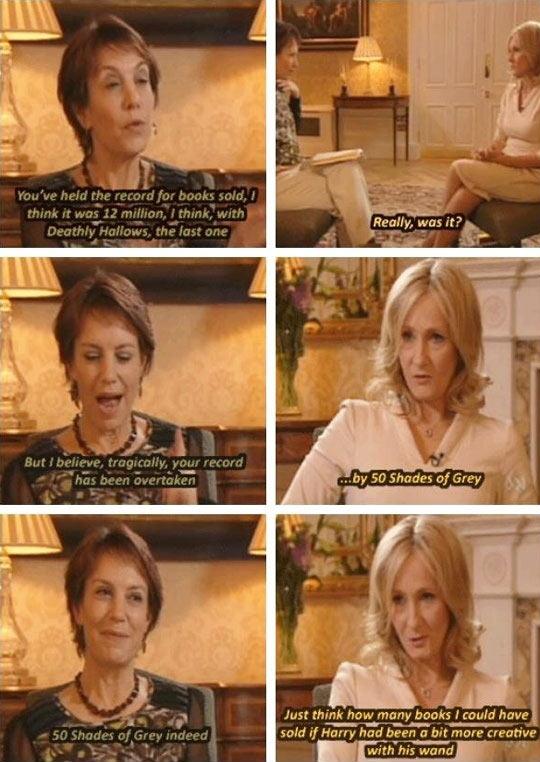 JK Rowling has a sense of humor…