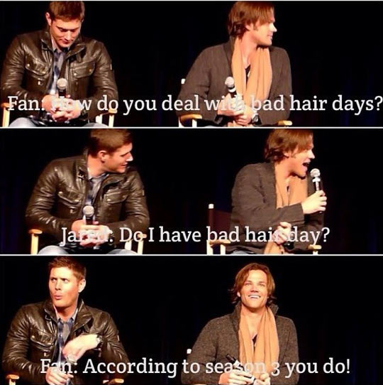 Bad hair days…