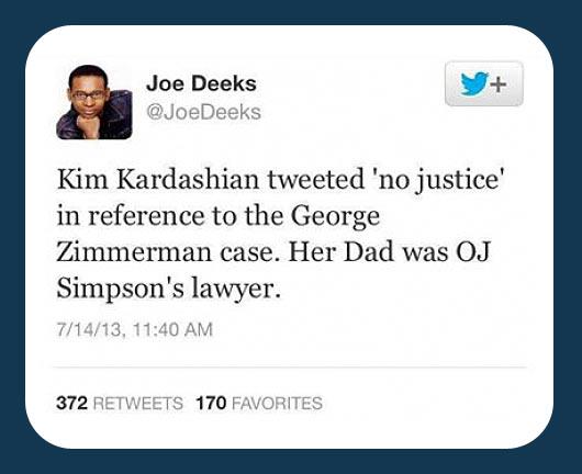 No justice…