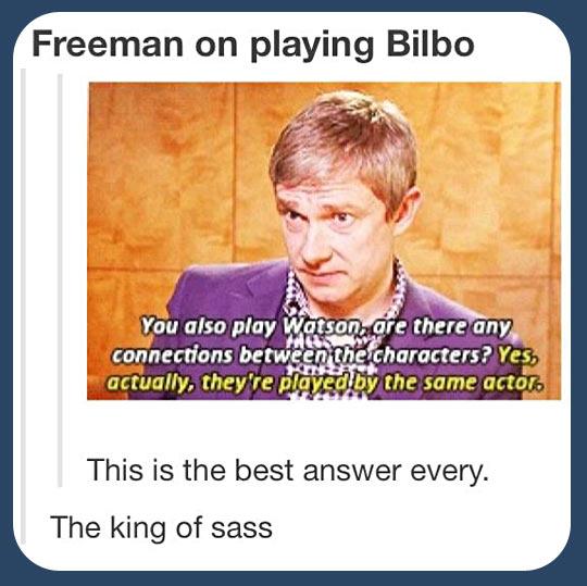 Martin Freeman, king of sass…