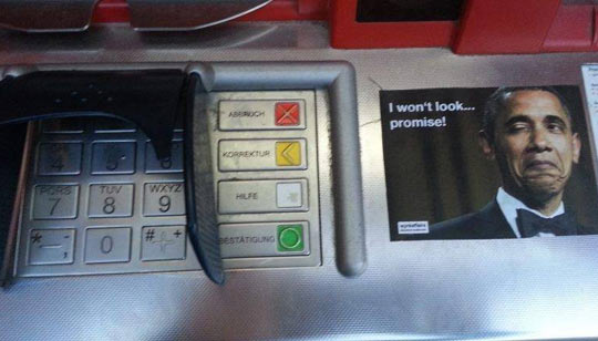 Found on a German ATM…