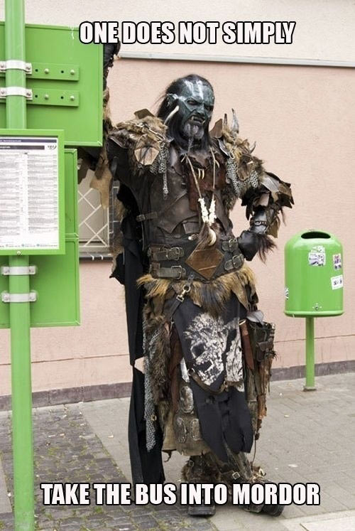 Taking the bus as an orc…