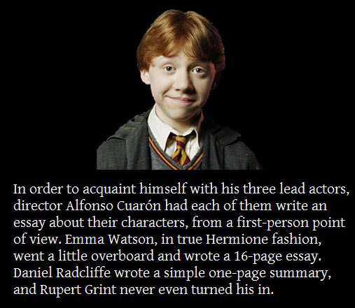 Rupert Grint was the perfect Ron Weasley…