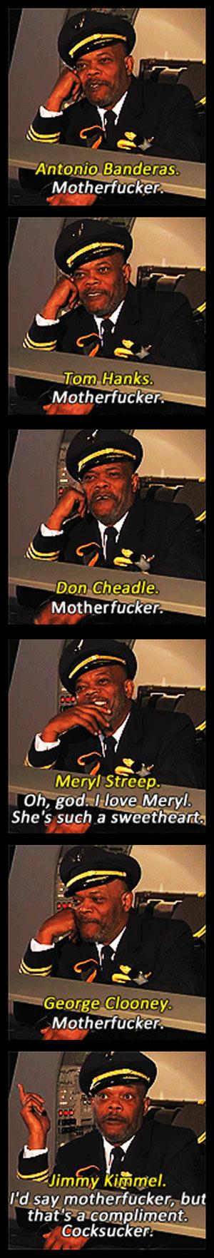 Samuel L. Jackson describes other celebrities…