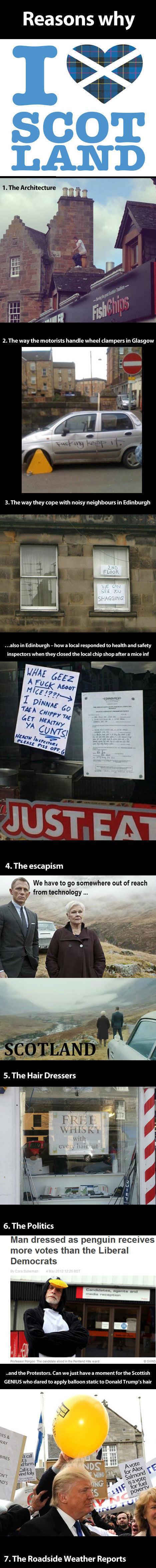 Reasons why we love Scotland...