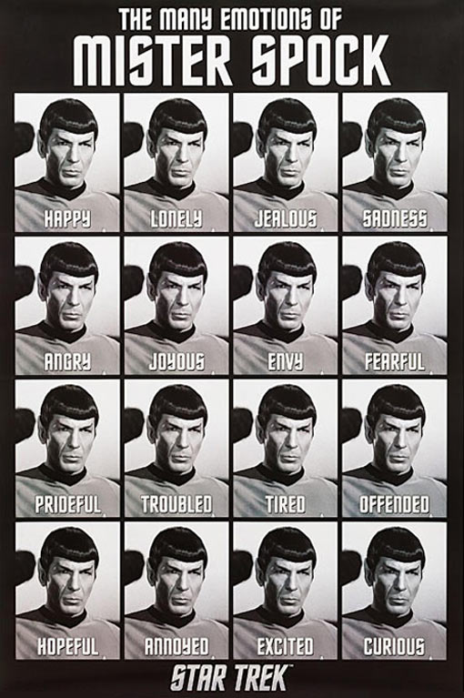The many emotions of Mister Spock…