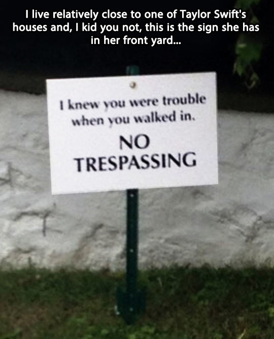 funny-Taylor-Swift-no-trespassing-sign