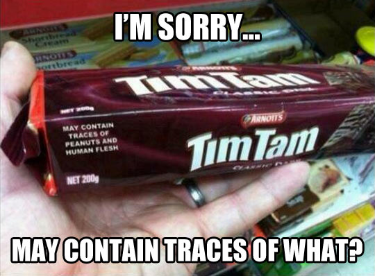 May contain what?