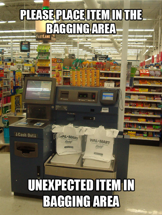 Unexpected item…