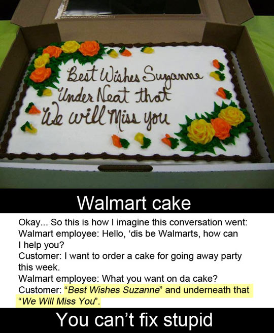 Walmart cake…