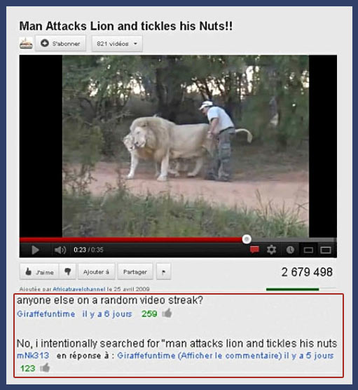 funny-YouTube-comments-lion-man-attack