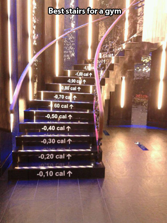 Best stairs for a gym…