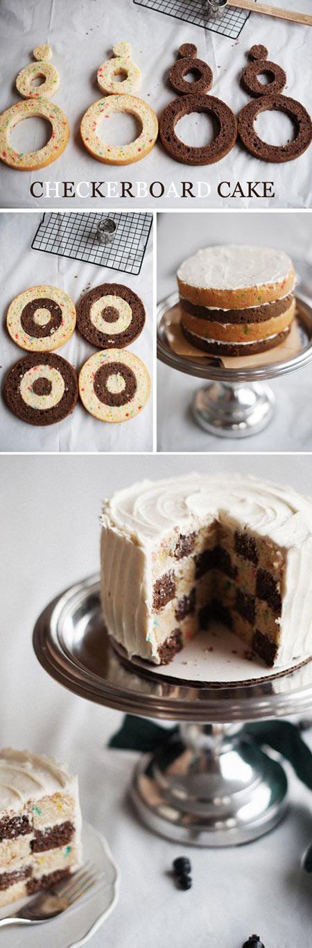Checkerboard cake…
