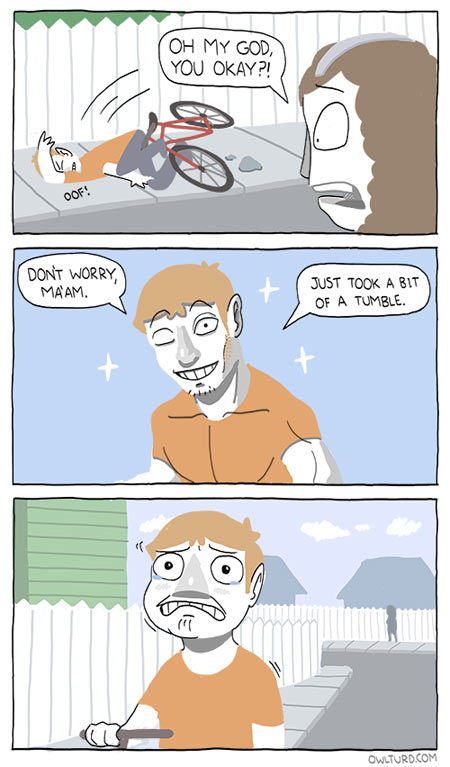 funny-cartoon-bike-hit-pretend-hurting