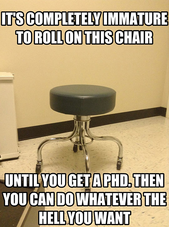 The law of rolly chairs…